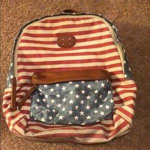 Steve Madden American flag backpack